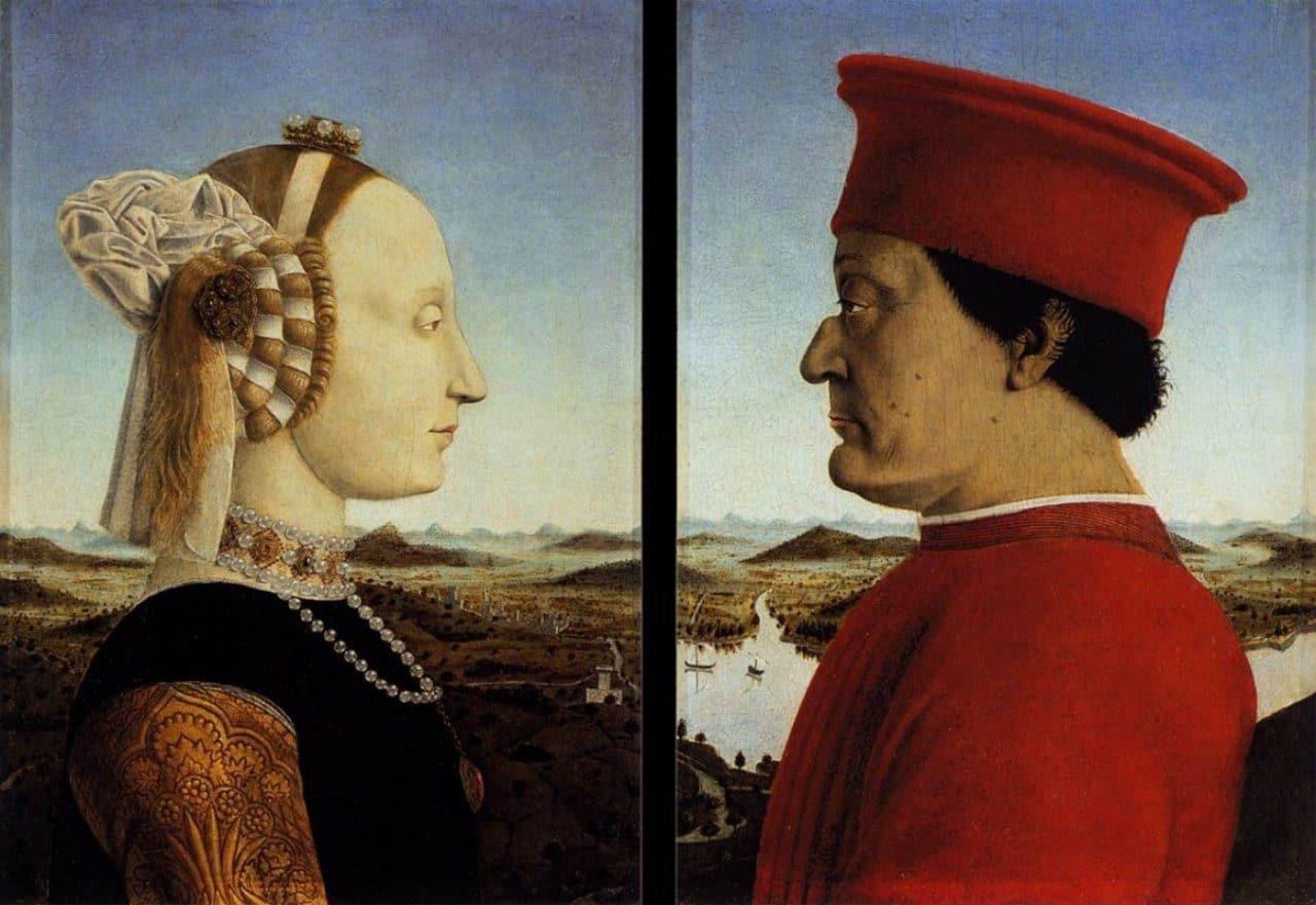 우르비노 공작 부부의 초상(Portrait of the Duke and Duchess of Urbino) -피에로 델라 프란체스카(Piero della Francesca), 1472