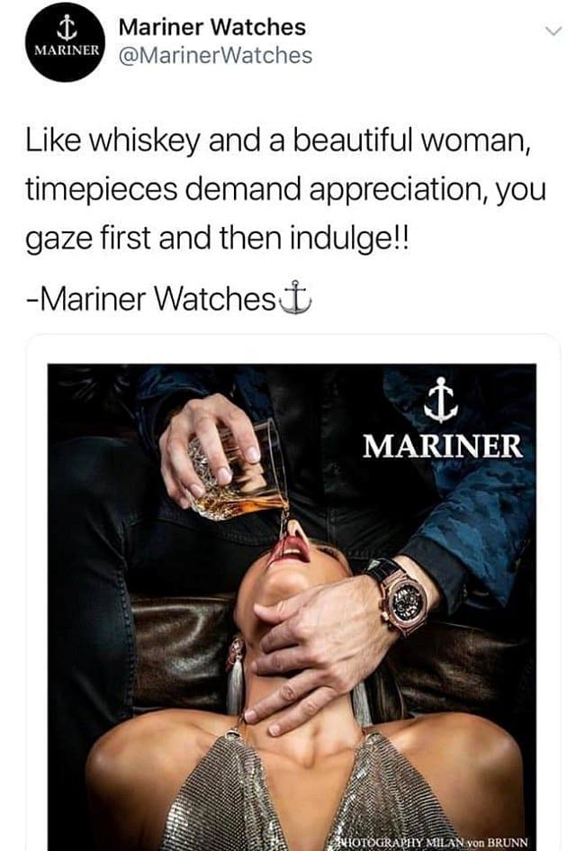 럭셔리 시계 Mariner Watches 광고, Mariner Pour-2019