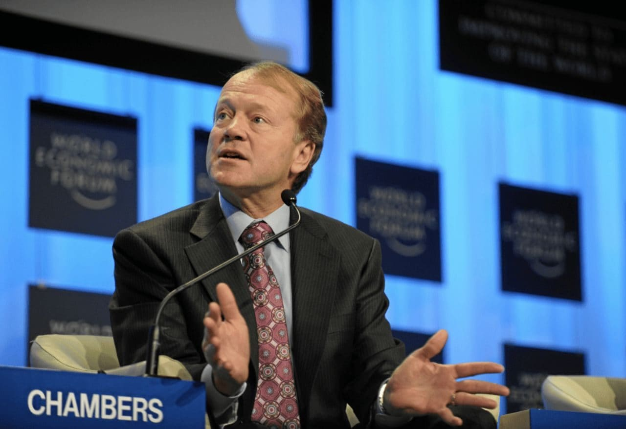 시스코 CEO인 존 체임버스(John Chambers), the CEO of Cisco, at Davos in 2010. Source - World Economic Forum