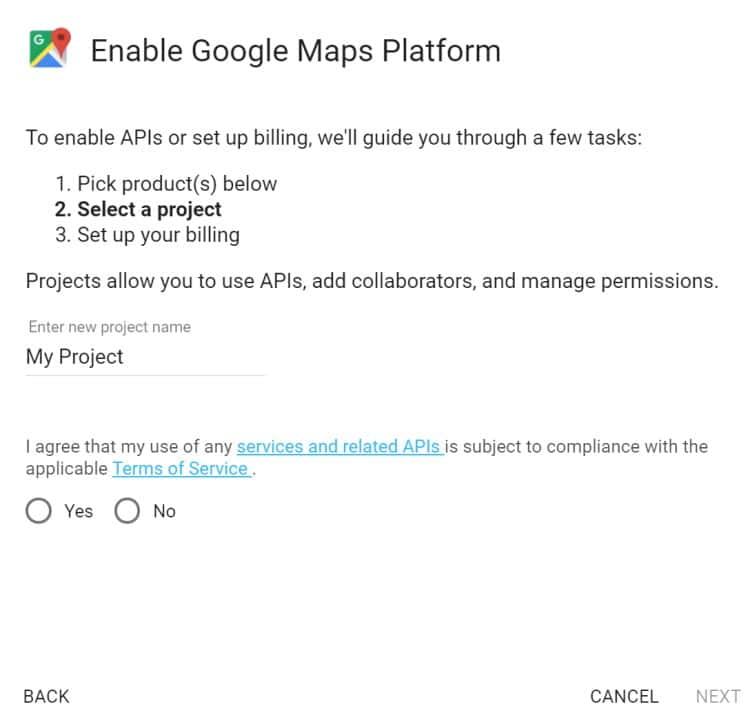 구글맵 활용법 - 구글맵 API key 발급 방법 1