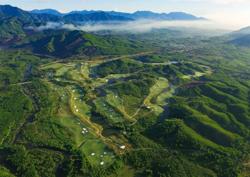 바나힐 골프클럽(Ba Na Hills Golf Club), 하늘에서 바라본 골프장 전경