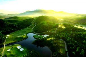 바나힐 골프클럽(Ba Na Hills Golf Club), 하늘에서 바라본 골프장 일출 풍경