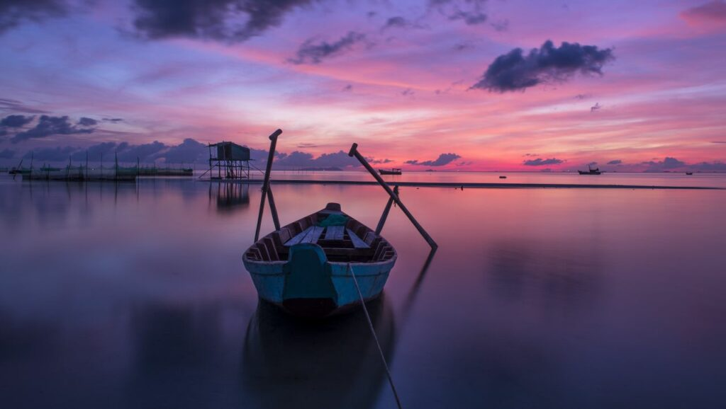 베트남 푸꾸옥(Phu Quoc)의 아름다운 저녁놀 풍경, Phu Quoc sunrise,  Photo by quangle
