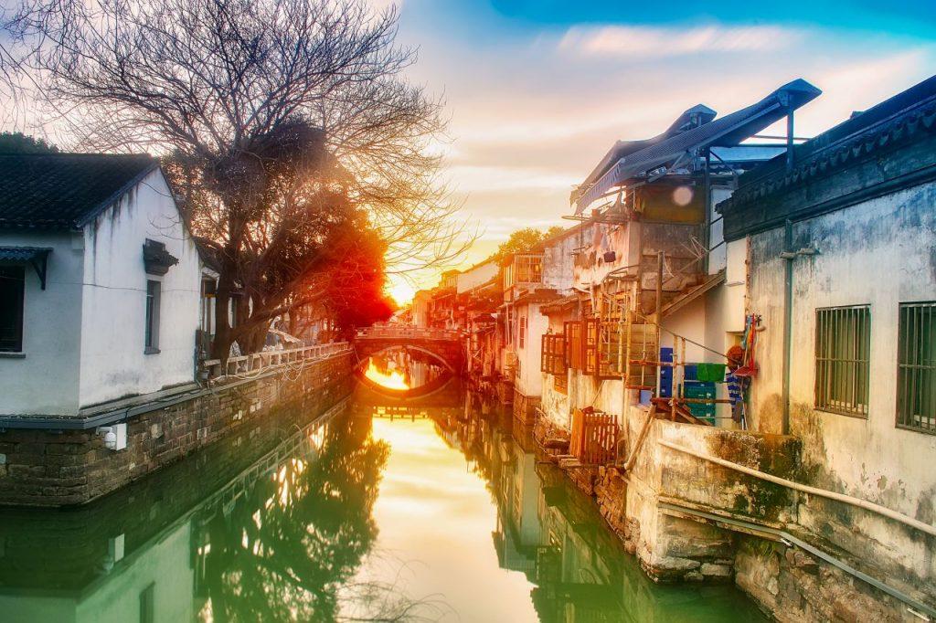 중국 소주 운하 풍경, Photo by zhang kaiyv