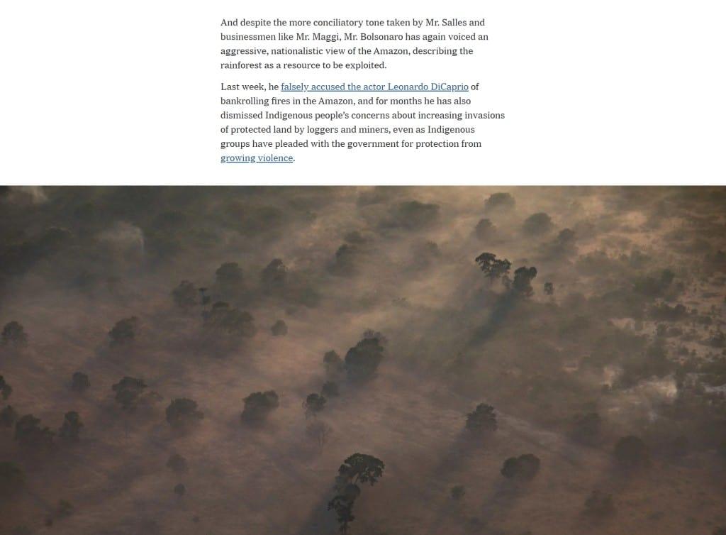 뉴욕타임지 기사 사례_텍스트 부분은 좁고 이미지는 풀 화면 배치
