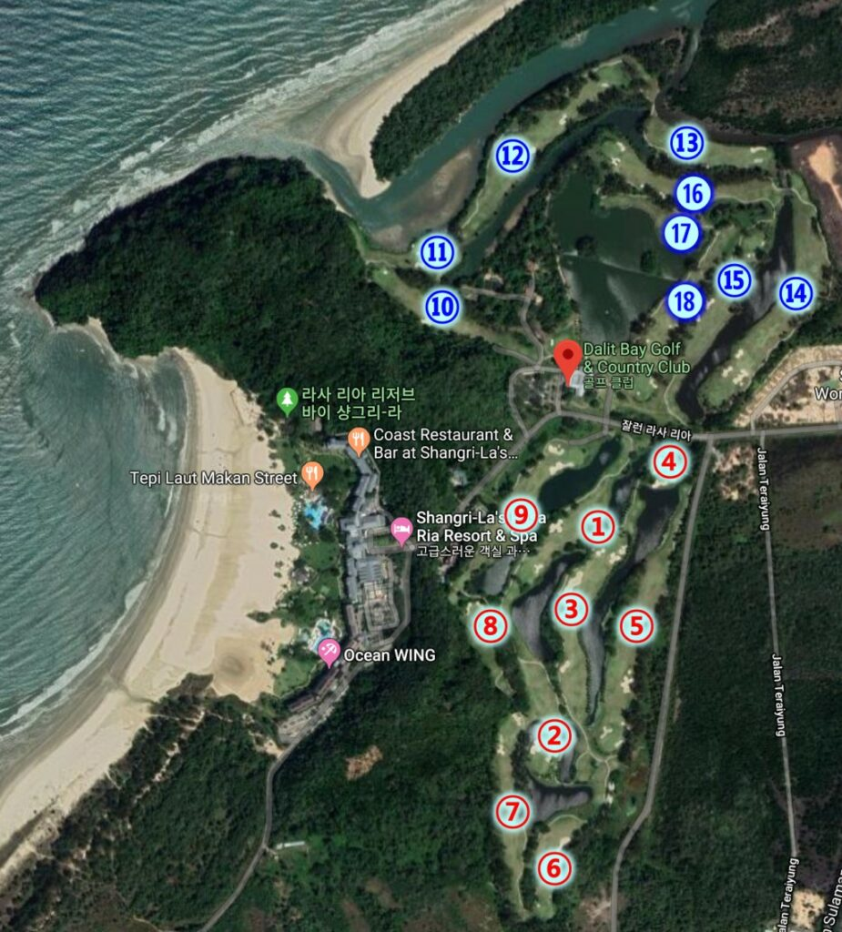 달릿베이 GC(Dalit Bay Golf & Country Club) 코스 맵(Course Map) large2