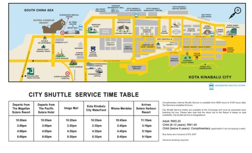 수트라하버 리조트 셔를버스 운행시간