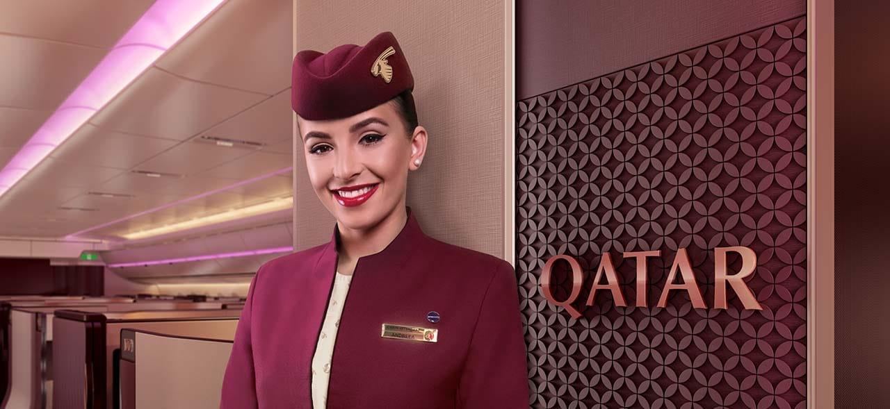 카타르항공 승무원의 미소, Image from Qatar Airways