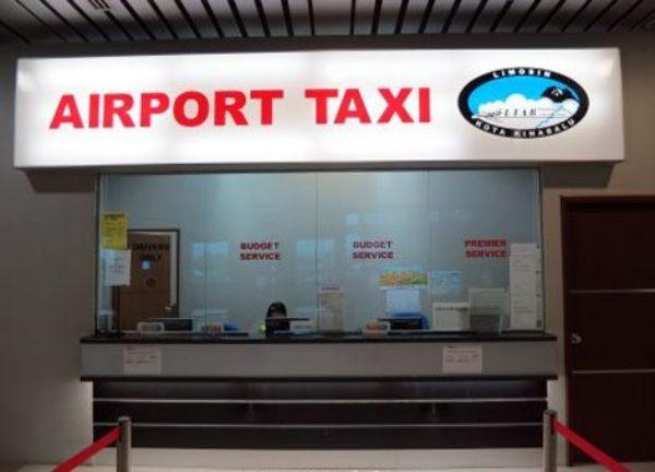 코타키나발루 공항 '에어포트 택시' 티켓 부스kota kinabalu airport taxi counter photo by klia2
