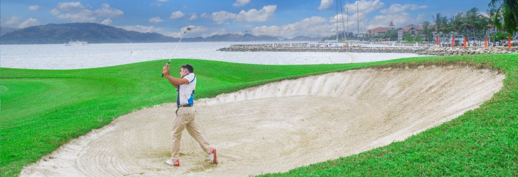 코타키나발루 수트라하버 CC 벙커 풍경, Image source form Sutera Harbour Golf & Country Club