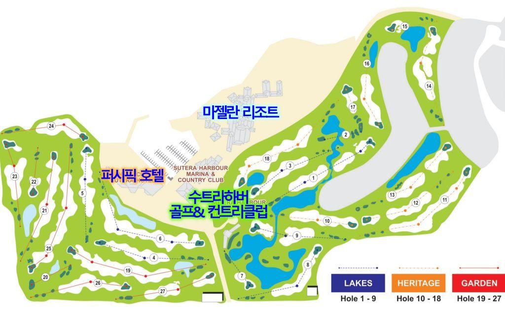 코타키나발루 수트라하버 CC 코스 맵, Sutera Harbour Golf & Country Club