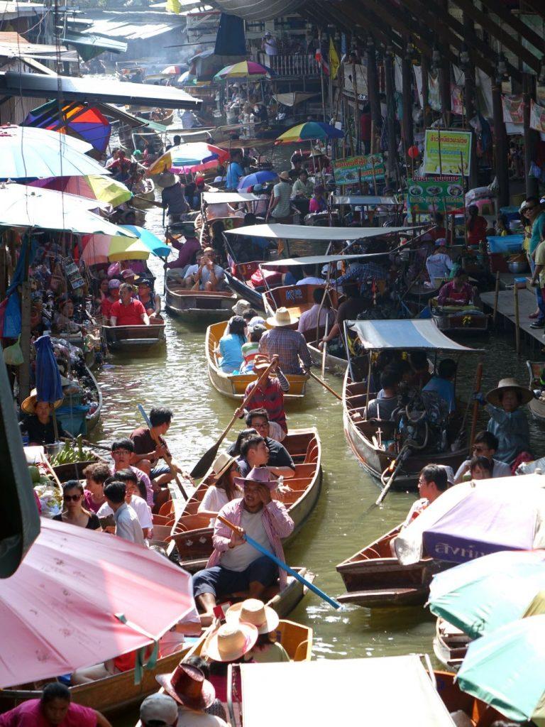 태국 방콕 근처 최대 수상시장 담넌 싸두악 수상 시장(Damnoen Saduak floating marke), Photo by cegoh