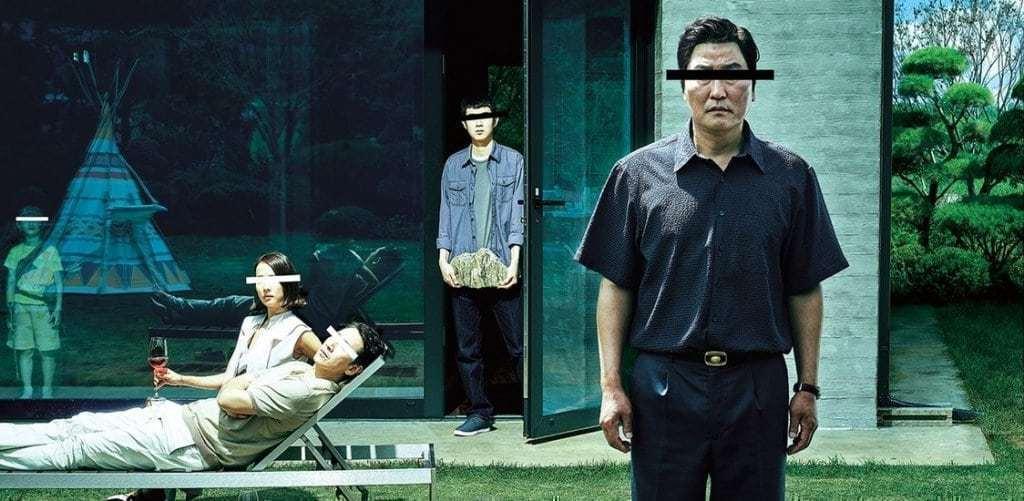 봉준호감독의 기생충 영화 포스터 일부