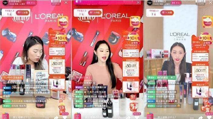 중국 이커머스 트렌드, 로에알 라이브스트리밍, Livestreaming of L'Oréal's products by key opinion leaders during Singles' Day 2019