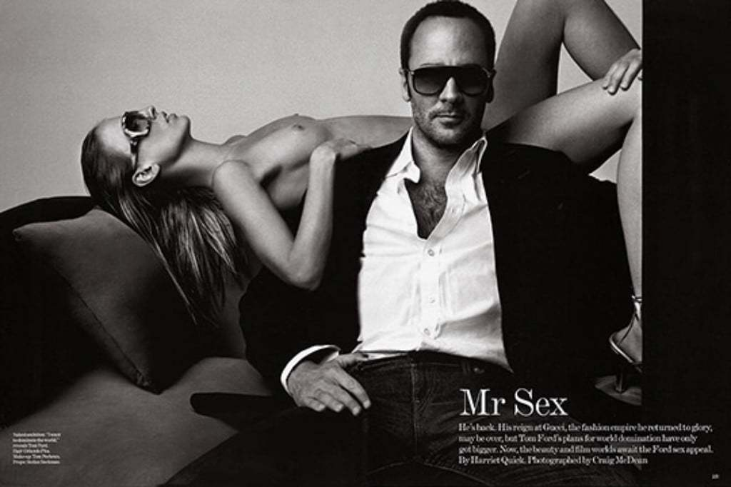 톰 포드(Tom Ford), VOGUE 2005년 4월호에 게재된 톰 포드 사진 Mr. SEX라고 칭하고 있다, Image from Vogue