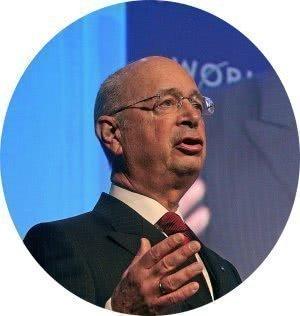 2008년 세계 경제 포험(WEF)에서 연설중인 클라우스 슈바브( Klaus Schwab )교수, Photo by Remy Steinegger cicle
