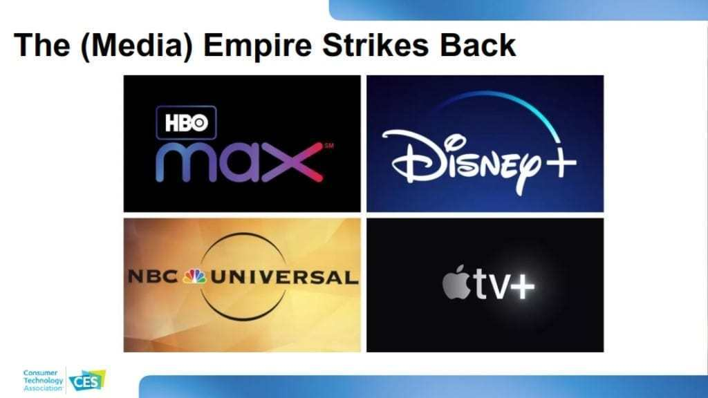 CES 2020 소비자 기술 트렌드, 기존 미디어 제국의 역습, The (Media) Empire Strikes Back