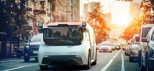 GM 크루즈 레벨 5 자율주행차 오리진, 황혼속에 시내 주행 모습 01, Photo by GM Cruise