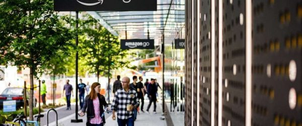 아마존고 1호 매장 앞 풍경, Amazon Go First Store, Image from Amazon