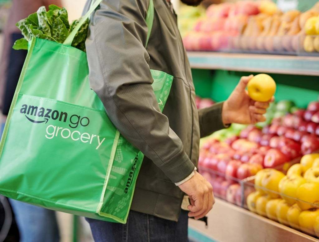 아마존 고 식료품점(Amazon Go Grocery) 쇼핑 백, Amazon Go Grocery bag, Image from Amazon
