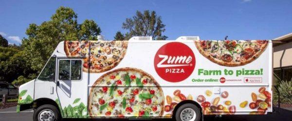 줌 피자(Zume Pizza) 배달 트럭, Image from Zume pazza