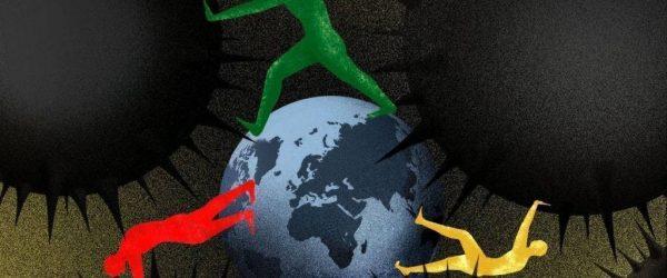 코로나 팬데믹 이후 세계, coronavirus world after, Image by brian stauffer illustration
