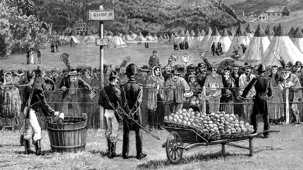 1890년 이태리에서 스위스로부터 오는 여행자들을 격리했다. In the 1890s, travelers from Switzerland were quarantined in Italy to make sure they didn't have cholera