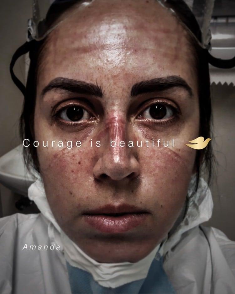 코로나와 싸우는 의료진을 등장시킨 도브 광고, '용기는 아름답다, Courage Is Beautiful'