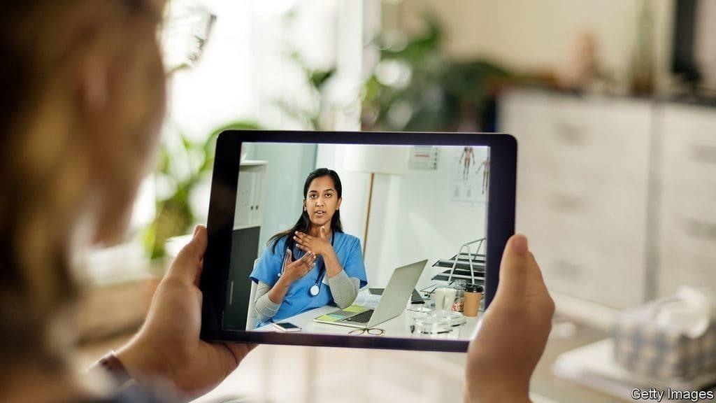 코로나 이후 변화 전망 - 원격 진료 활성화, telemedicine, Image from Economist