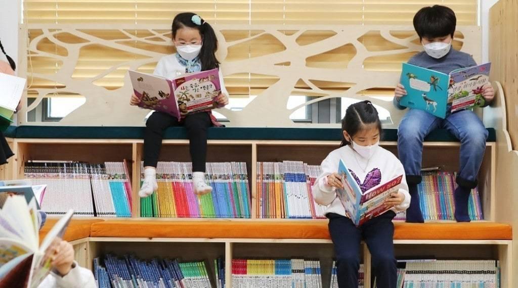 코로나19 풍경, 서울 성동구 어린이 도서관, 사회적 거리두기 캠페인