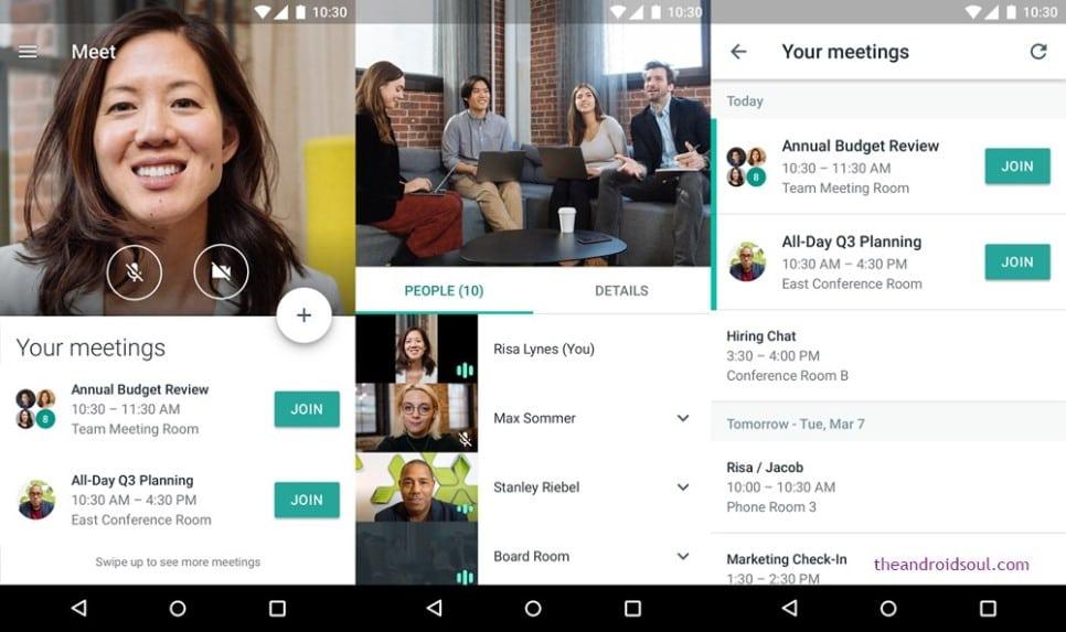 구글 미트(Google Meet) 사용 모습, Image from Google