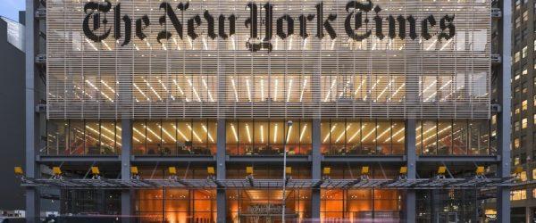 뉴욕타임즈 빌딩 전면, Image from Nick Rockwell