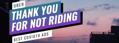 역설적인 우버 코로나 광고, 우버를 타지 않아 감사하다, 우버 코로나 광고, Thank You For Not Riding Uber