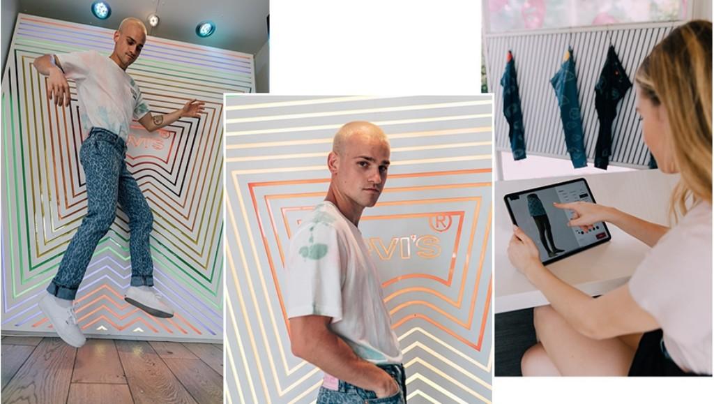 틱톡 리바이스 광고, 틱톡 인플러언서의 라비이스 신상품을 상해본 틱톡 동영상에서 브랜드 이커머스 사이트로 연결 시도, Image-from Levi's