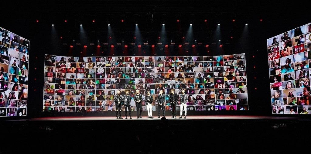 SM엔터테인먼트와 네이버가 선보인 슈퍼엠 온라인 콘서트 '슈퍼엠 - 비욘드 더 퓨처' 모습, Image from SM entertainment
