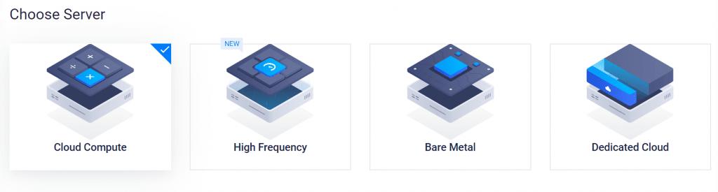Vultr 서울 리젼 신규 인스턴스 서버 종류 선택, Deploy New Instance Choose Server
