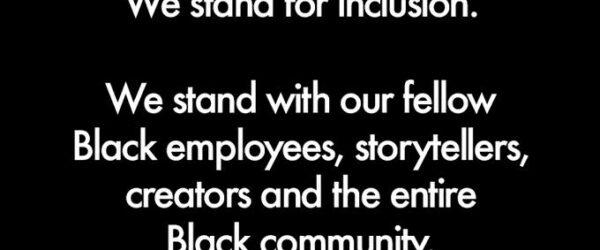 인종주의에 반대한다는 페이스북 메세지