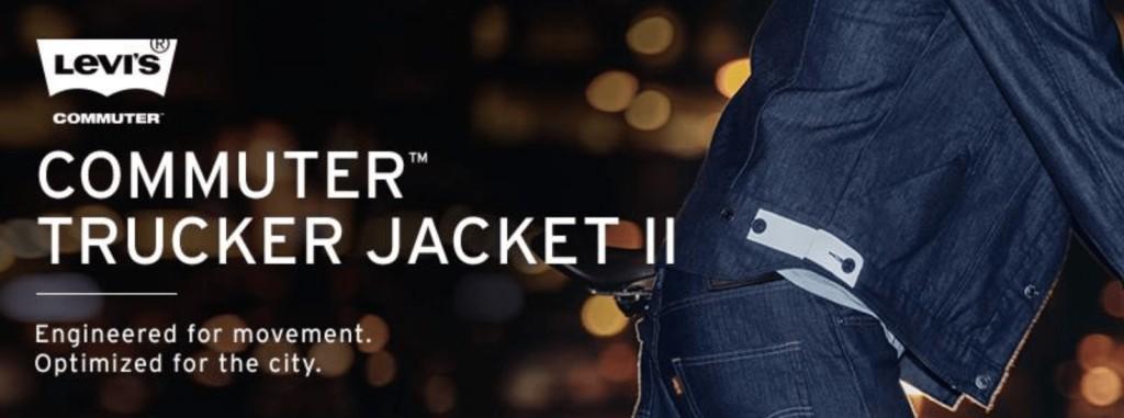 리바이스 브랜드 전통과 현대성을 조화시키기 위한 리바이스 트러커 재킷, levis commuter trucker jacket wearable tech clothing