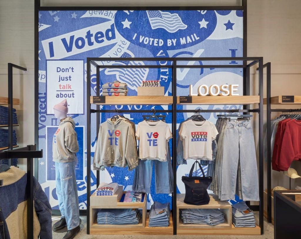 리바이스 NextGen 매장, 20년 10월 미국 갤리포니아 팔로 알토 쇼핑 센터에 오픈한 리바이스 NextGen 매장 내부 픙경, 보다 혁신적인 디자인 채용, Image from Levi's