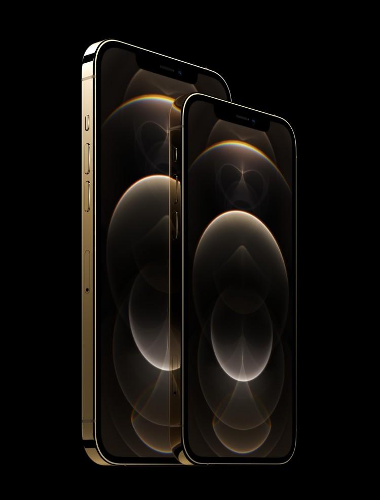애플 아이폰12 프로맥스, Apple iphone12 pro stainless steel gold, Image from Apple