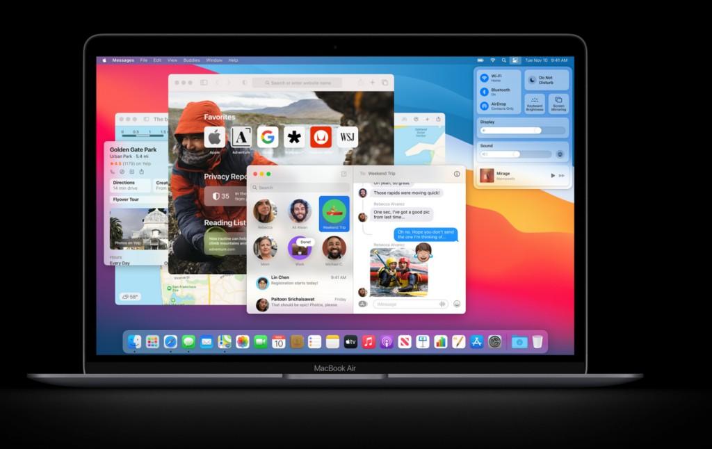 애플 M1 칩이 탑재된 신형 맥북 에어, Image from Apple