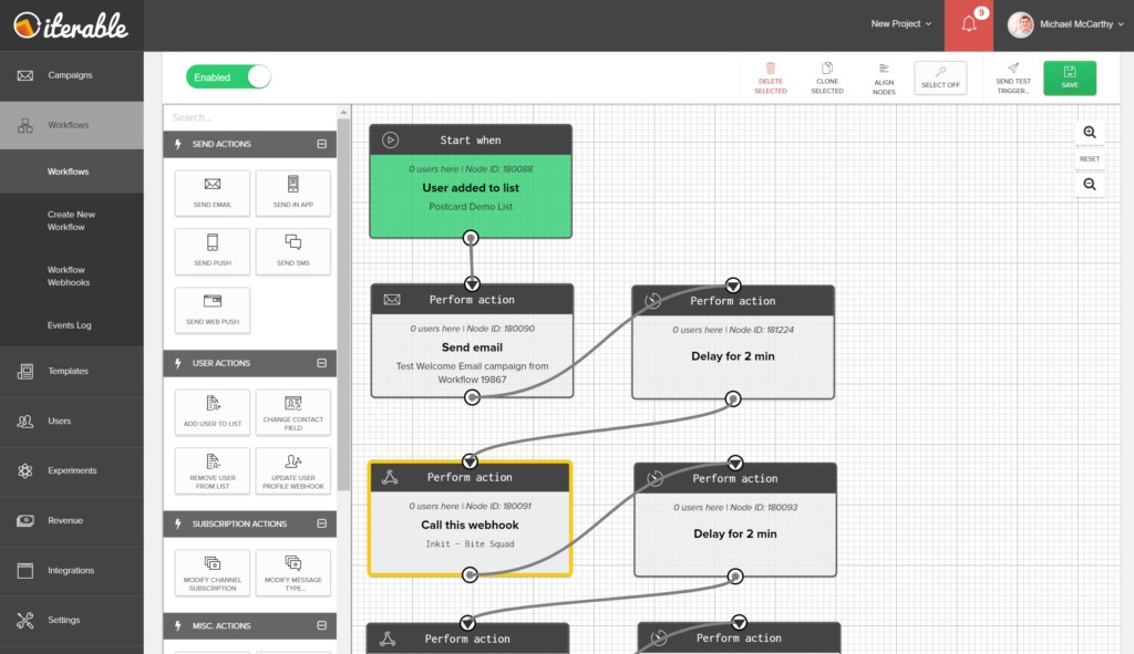 Iterable과 Inkit은 범용 웹훅을 사용하여 DM 워크 플로우를 자동화하기 위해 협력했습니다