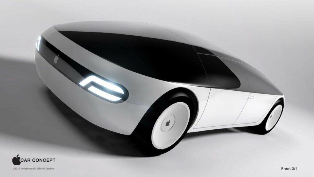 애플카 컨셉_애플카 전면 모습, Apple Car Front, Aristomenis Tsirbas
