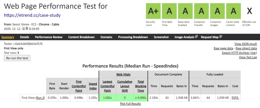 PHP 8 속도, PHP 8과 워드프레스 5.6 적용한 Vultr High performance 서버
