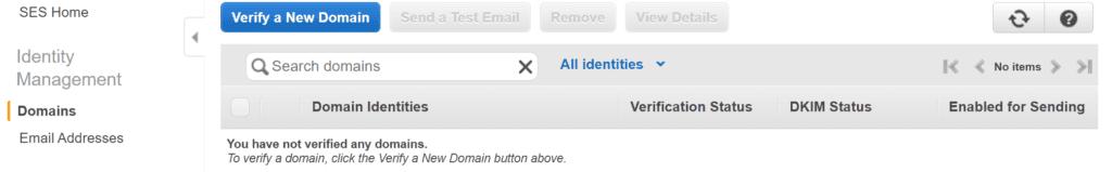 아마존 이메일 서비스, 도메일 등록.