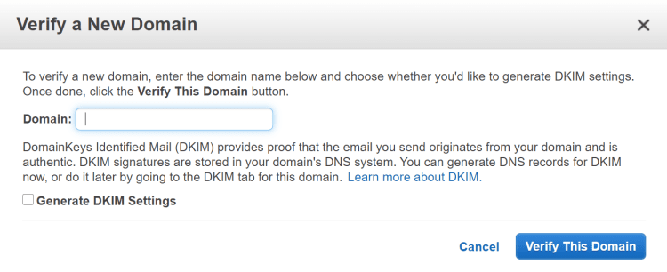 아마존 이메일 서비스, Amazon SES 설정 방법 1