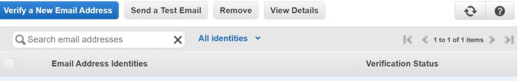 아마존 이메일 서비스, 이메일  등록 및 검증
