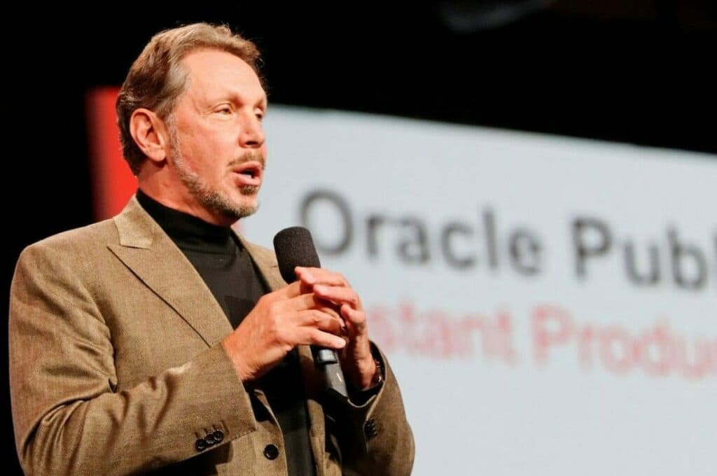오라클 창업자이자 CEO 래리 앨리슨(Larry Ellison), Oracle founder Larry Ellison, Image from CloudWas