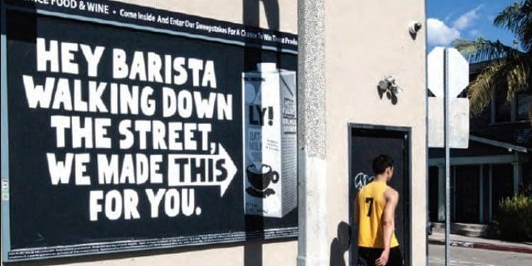 오틀리 광고, 바리스타를 겨냥한 오틀리 광고