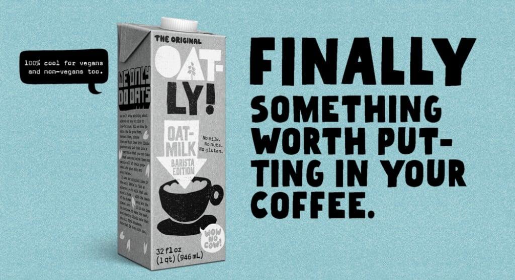 오틀리 브랜드 전략, 오틀리 바리스타 에디션, Oatly Barista Edition 광고 메세지, Image from Oatly